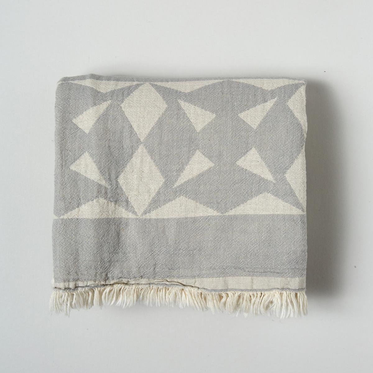 Grey Origami Cotton Throw/Wrap