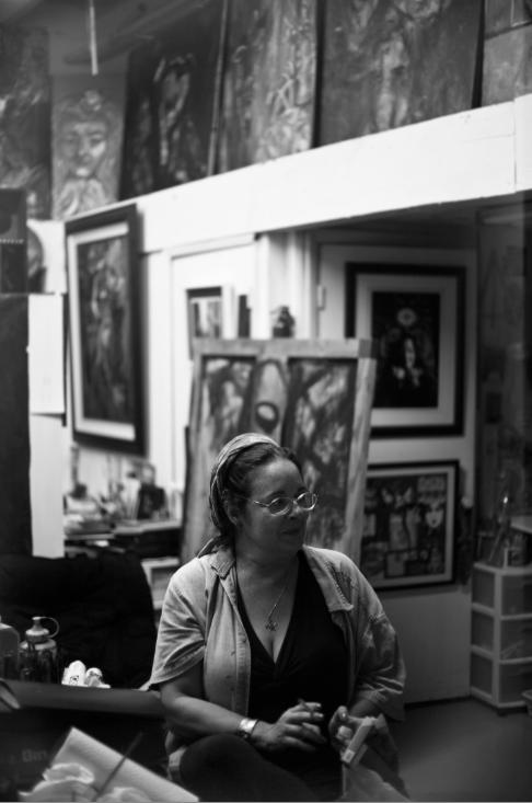 Portrait of artist Ana Maria Sarlat   Miami, 2010