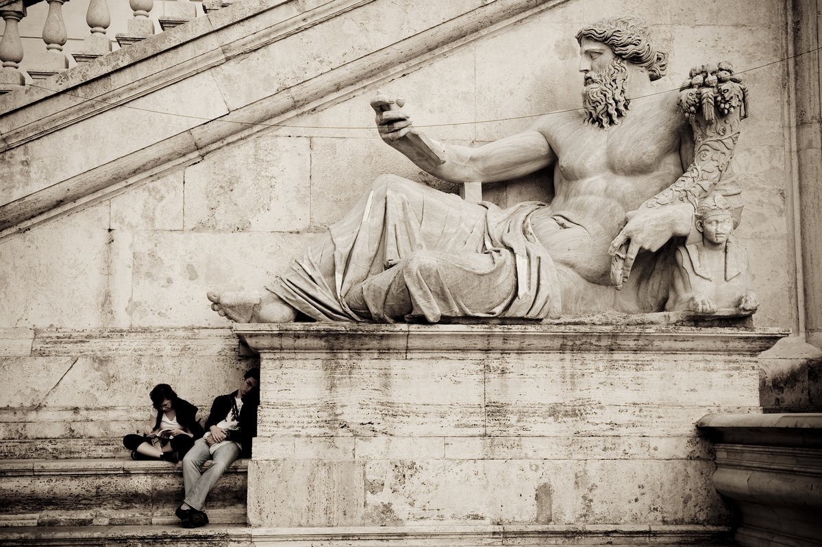 Tourist at Campidoglio, Rome, Italy