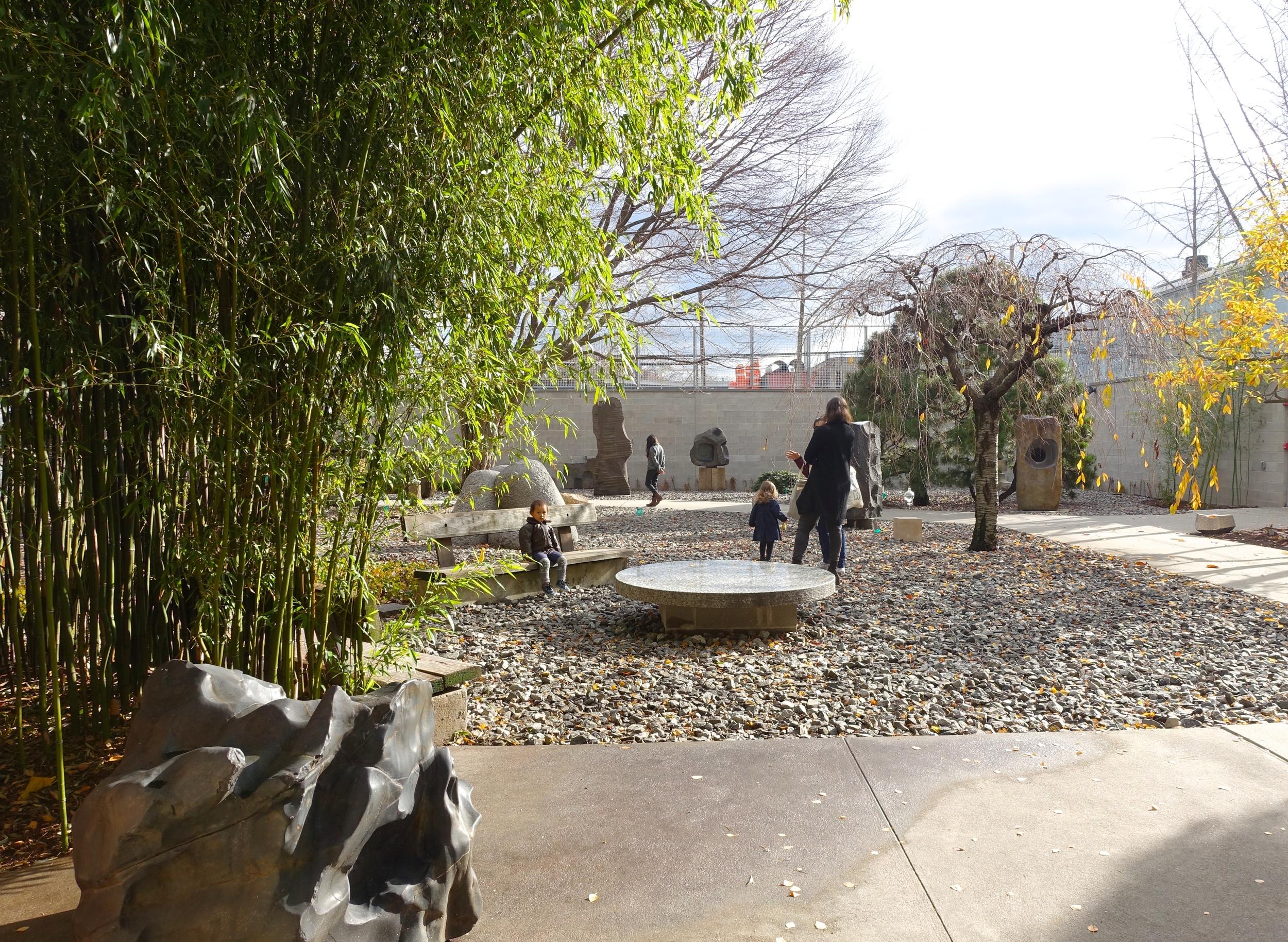 Daytripper365--Enjoying the garden at the Noguchi Museum.JPG