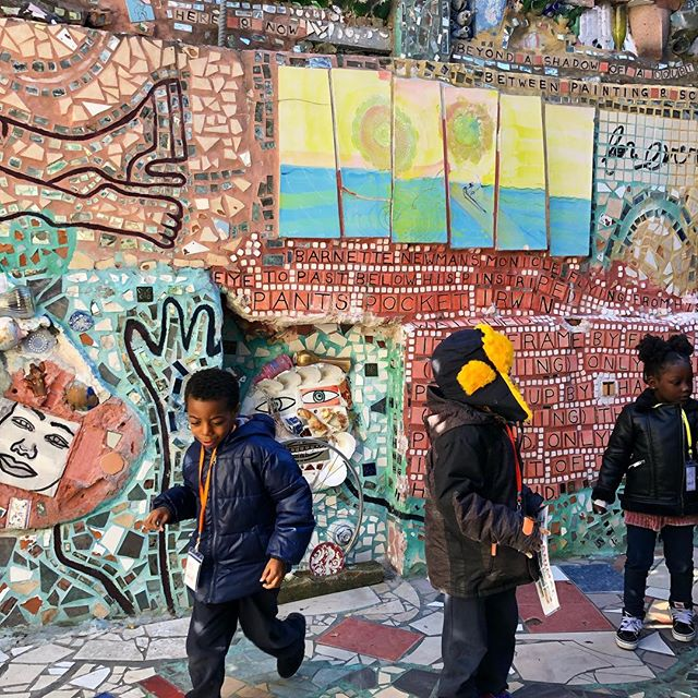 I think I was as excited as these kids on their school trip at the @phillymagicgardens a crazy wonderland of mosaics by artist Isaiah Zagar. #publicart #philadelphia_ig #citysights . . . . . . , , . #artmuse #artistsoninstagram #artiststudio #mosaics #artcollective #livefolk #liveauthentic #cityguides #phillypulse #philadelphia_citylife #igersphiladelphia #artinspiration #artinstallation #wonderful_places #awesomeplaces #wonderland_arts #timeoutphilly #nytimestravel #gqmagazine #travelawesome #travelstoked #kidsandart #arttour