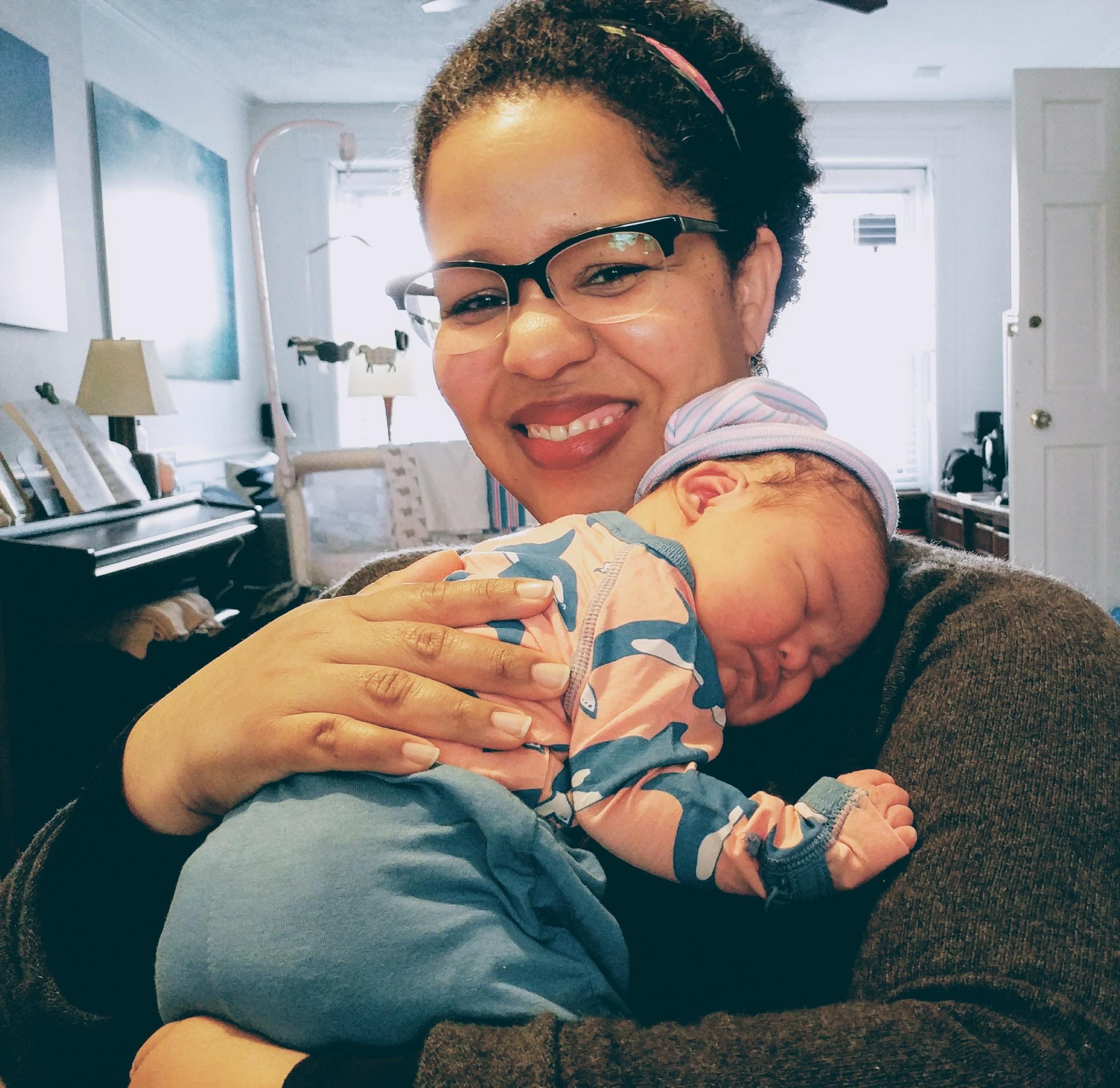 Baby Eyja, a true bundle of joy.