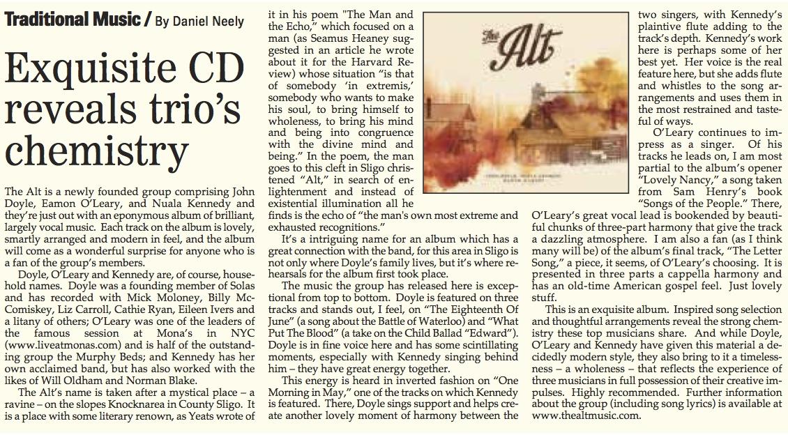 The Irish Echo  (September 2014)
