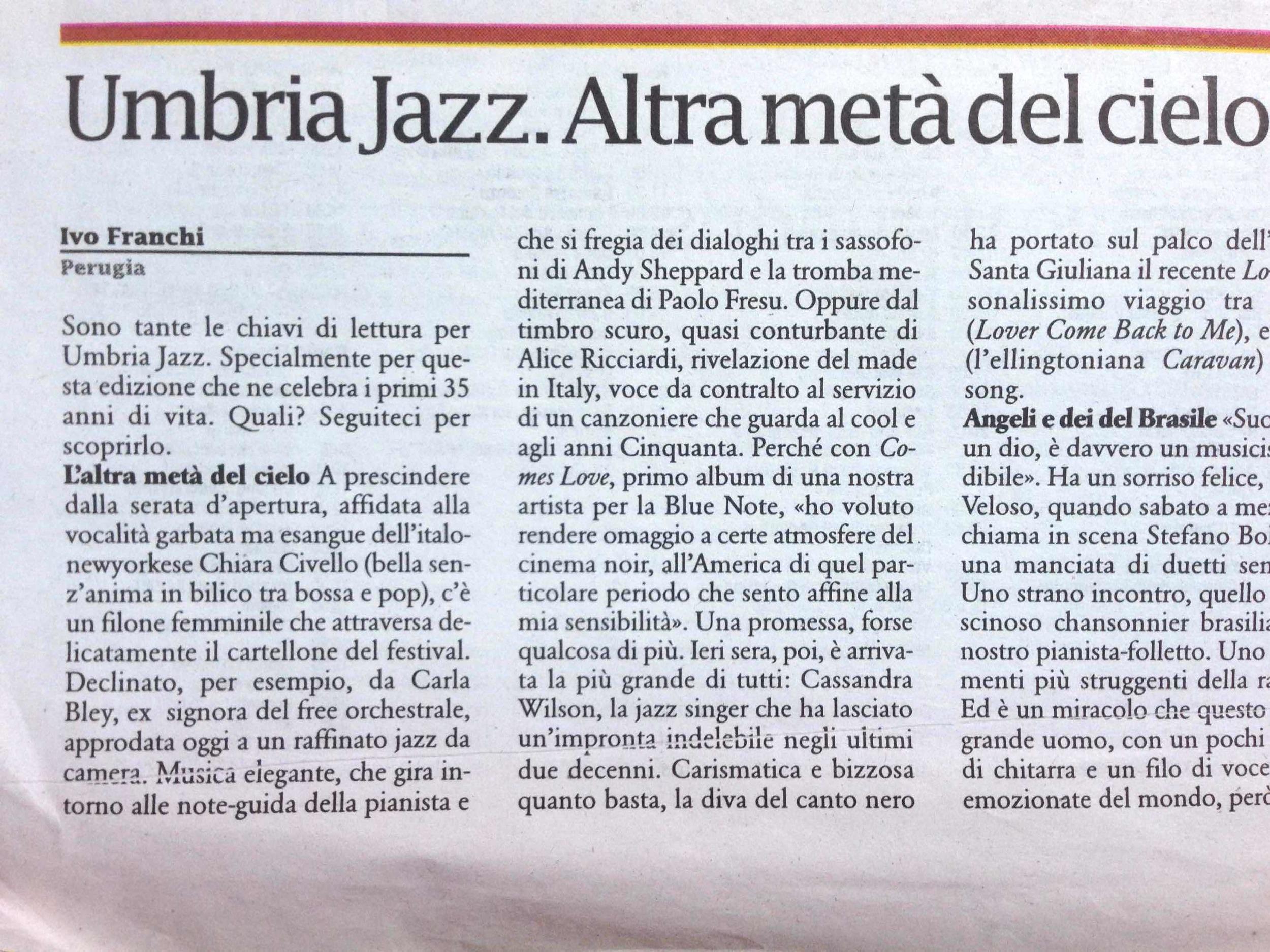 Liberazione - Umbria Jazz Review