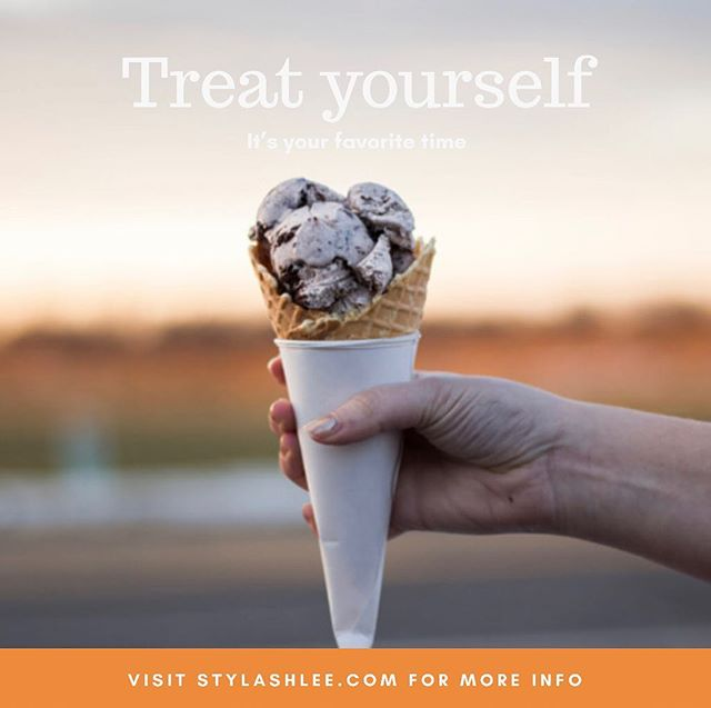 How's your day today? Life is tough! Treat yourself, you deserve it 🍦🌼 #loveyourself#neverhurt#stylashlee#loveu