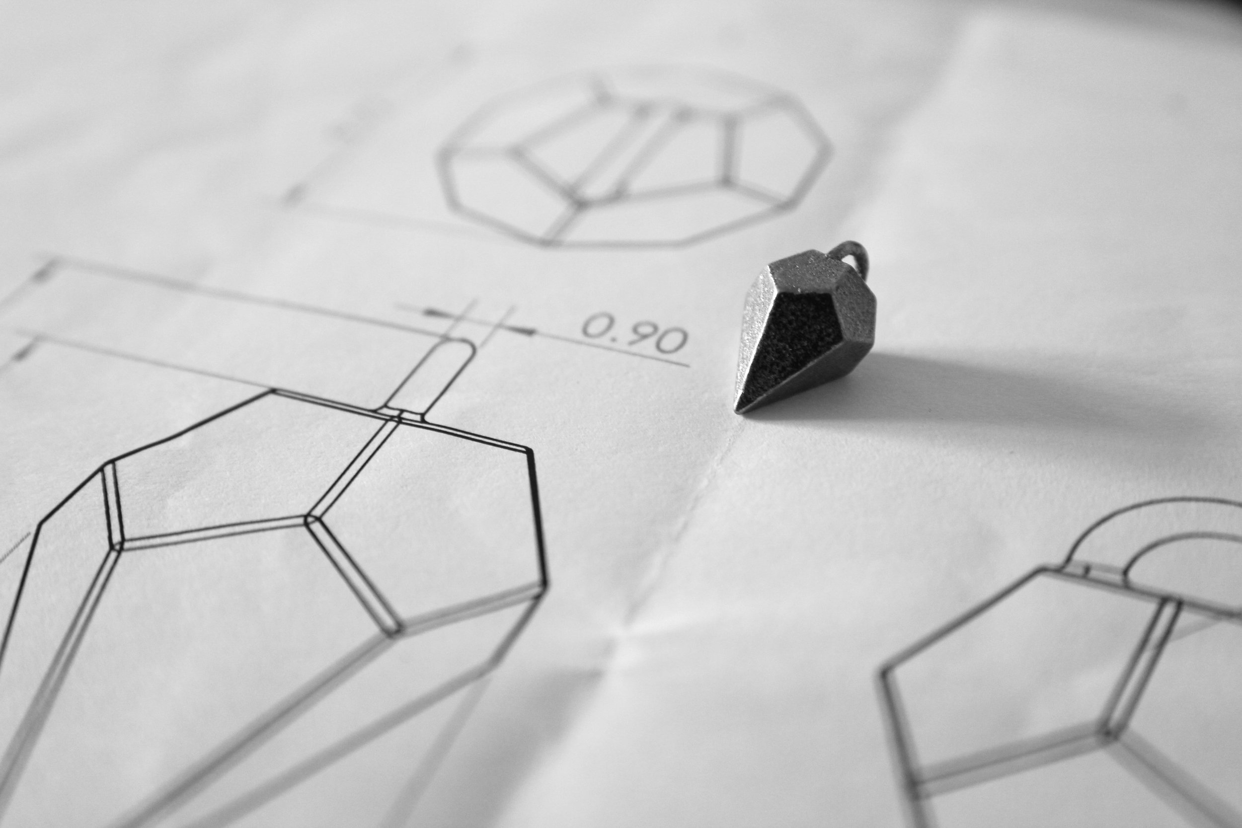 Dagger 3D Printed Steel Prototype, 2016