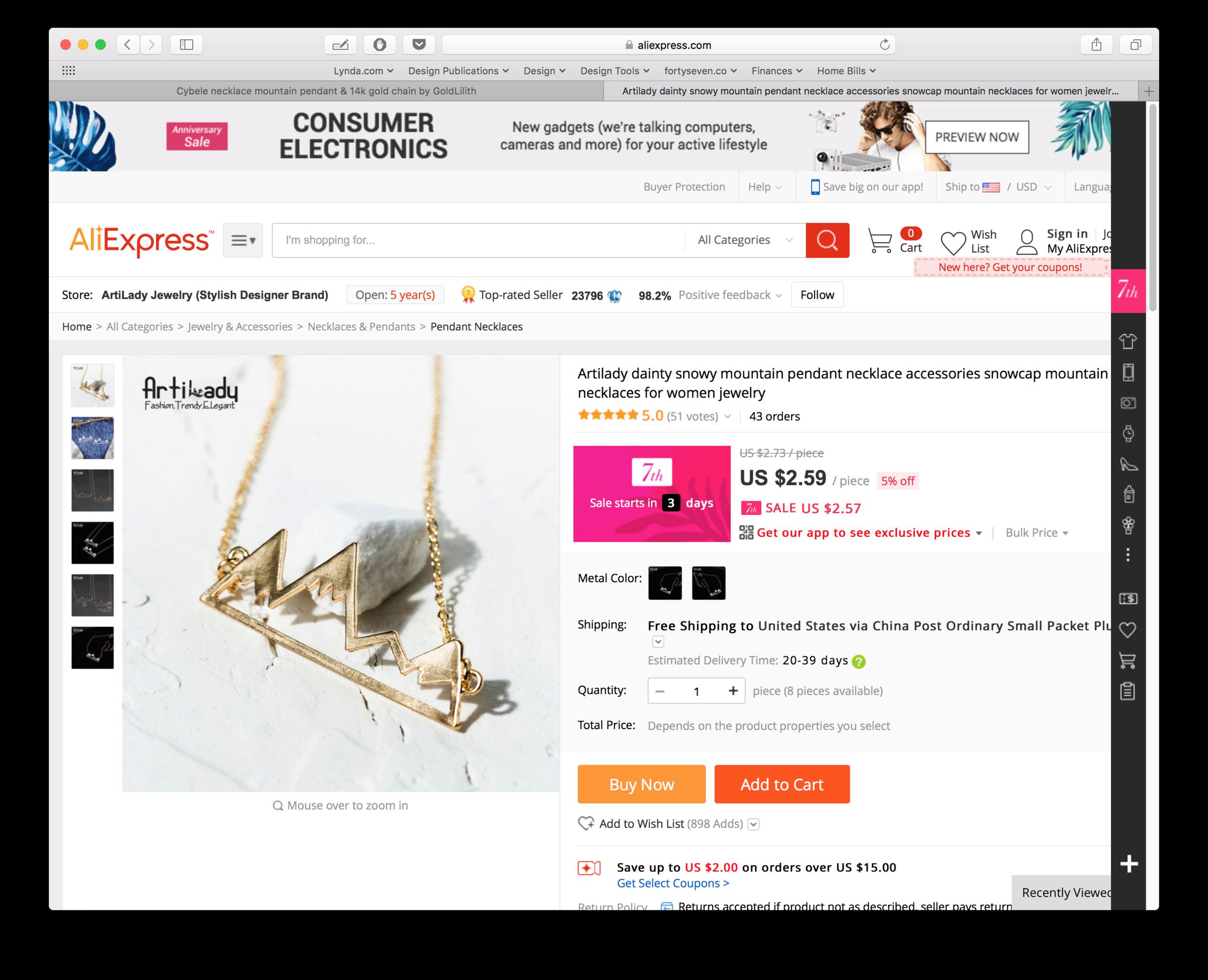 "Same ""handmade item"" on AliExpress"