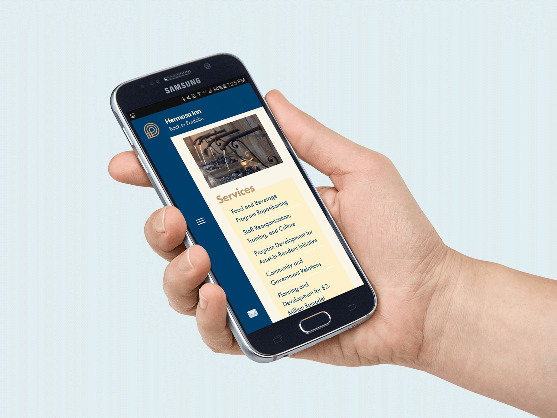 Client Project Page - Mobile
