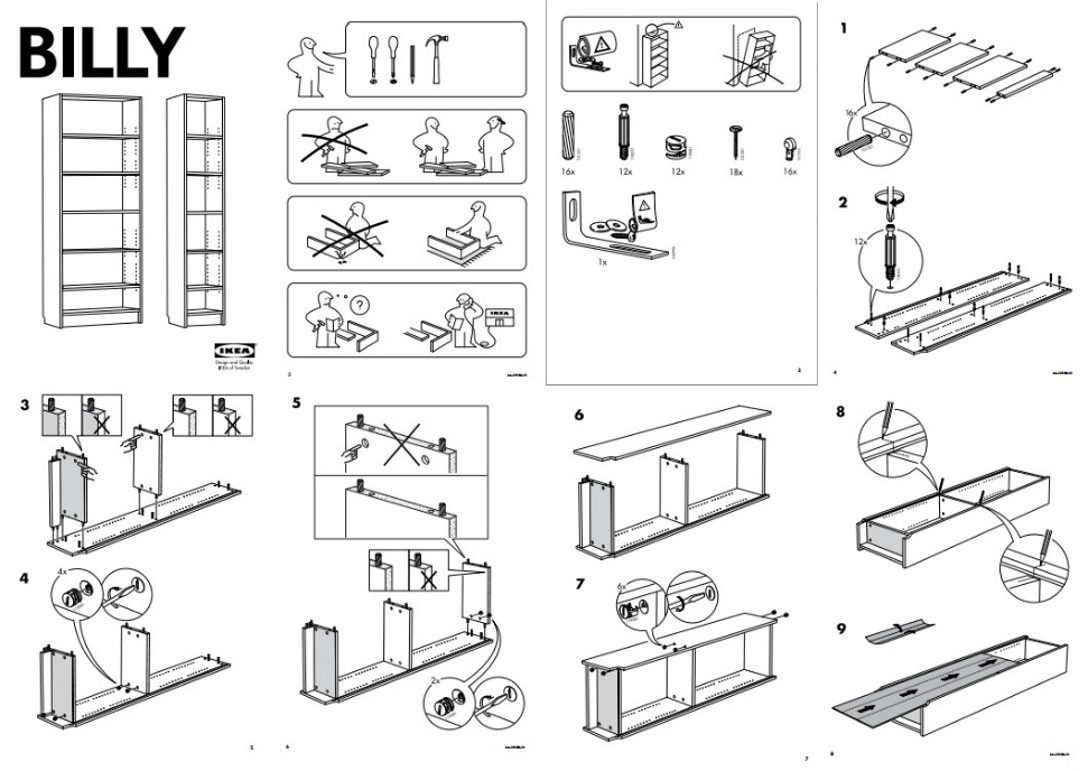 The Ikea Billy cabinet - www.ikea.com  How many of us could easily turn this Ikea graphic into multiple sheets of construction drawings?