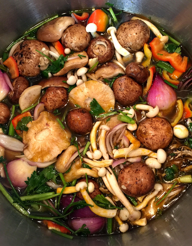 Verde, Curated Greens: Mushroom Broth