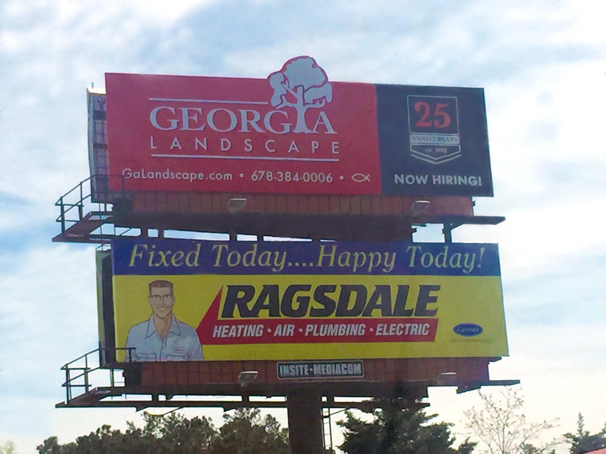 """Billboard Design and """"25th Anniversary"""" Logo Design - Georgia Landscape"""