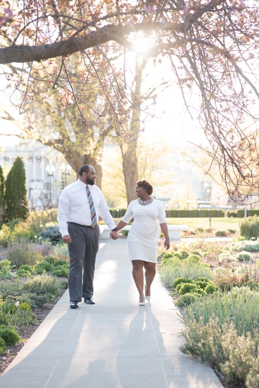 The Couple also really loved their engagement photo shoot and their wonderful photographer, Rhea Whitney. Photo by  Rhea Whitney Photography .