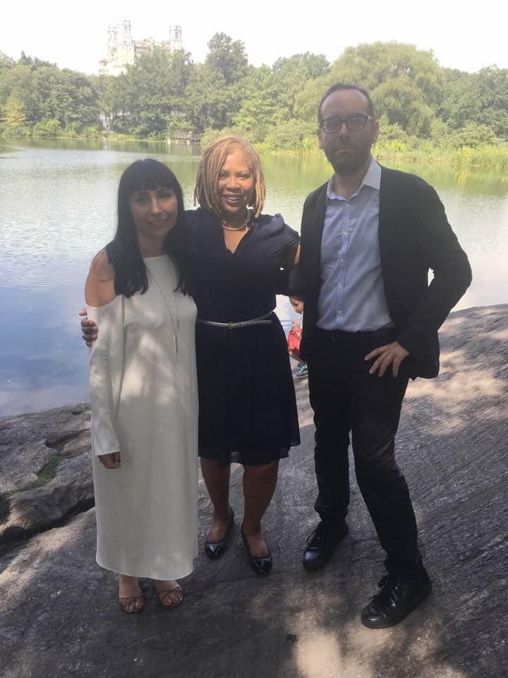 Agnieszka, John and Kim Kirkley, Celebrant