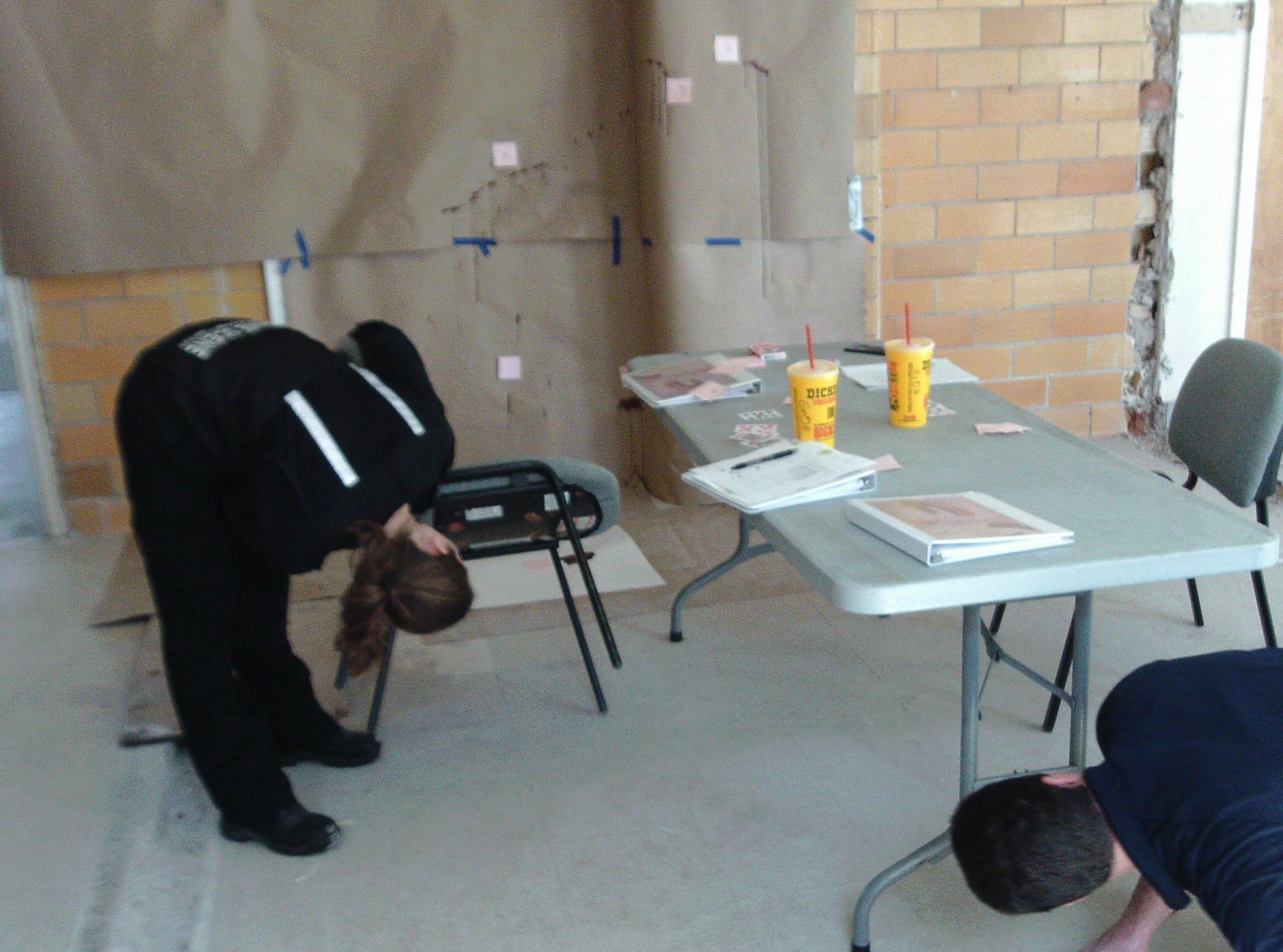 Team working one mock scene last day of class.JPG