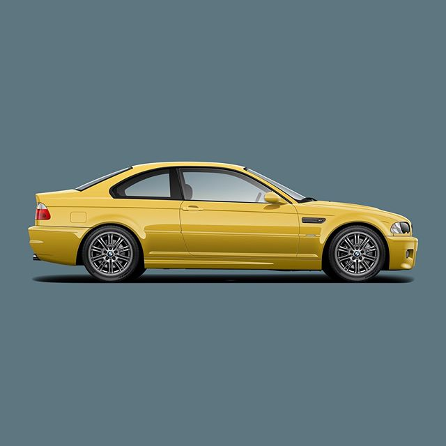 @capturingthemachine has been posting some incredible photos from his trip in @dslovn's Phoenix e46. I might be in the minority but I love Phoenix Yellow ///M car so I had to try it out on the new e46 render I just finished up. #e46 #m3 #msport #mpower #bmwm #bmwgram