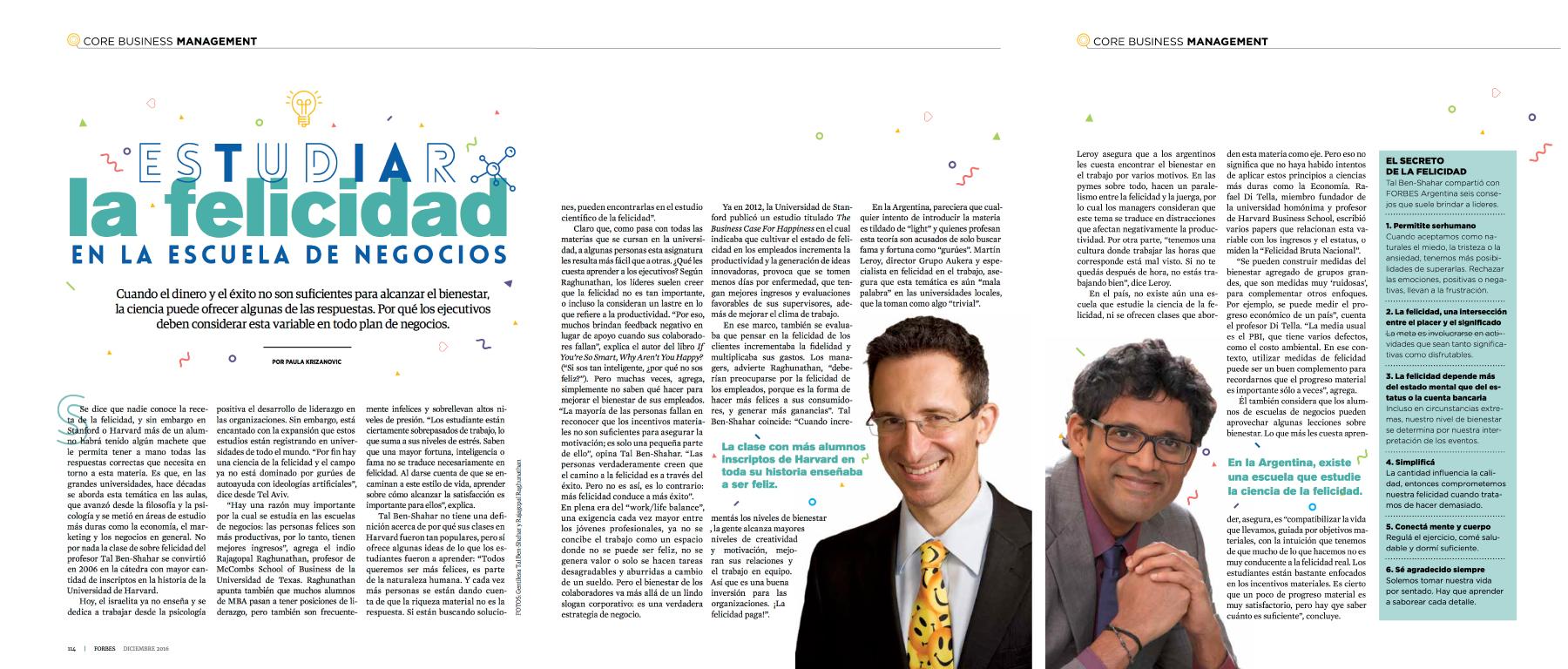 Nota Revista Forbes Argentina - Diciembre 2016   Ver Nota