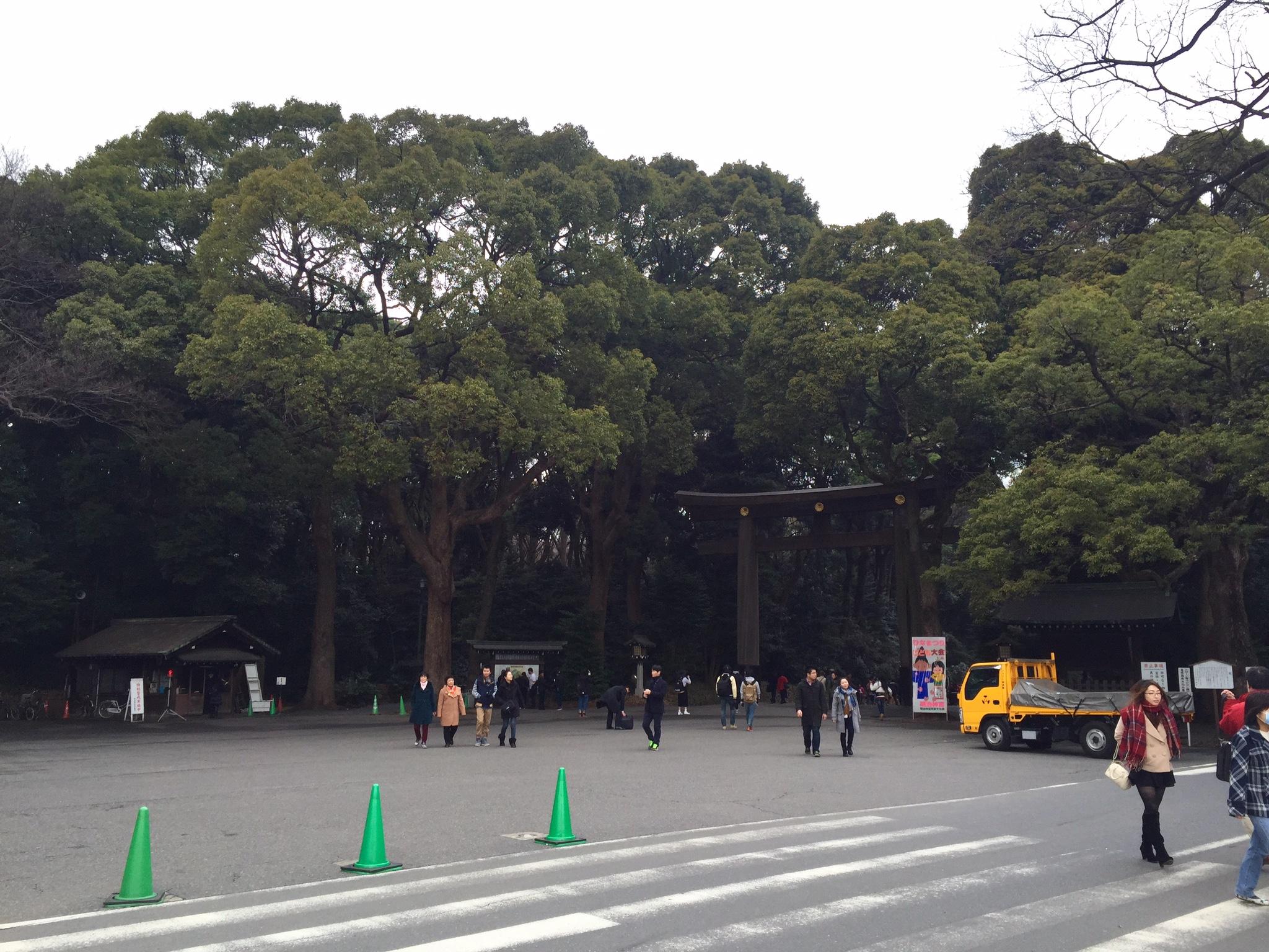 The gate to Meiji Shrine