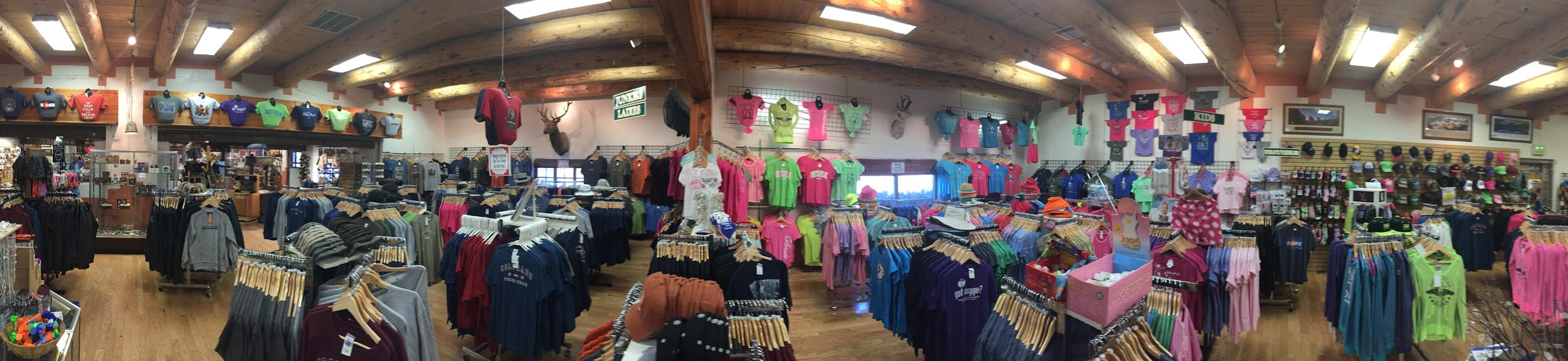 Come explore the largest selection of souvenir shirts in Colorado!