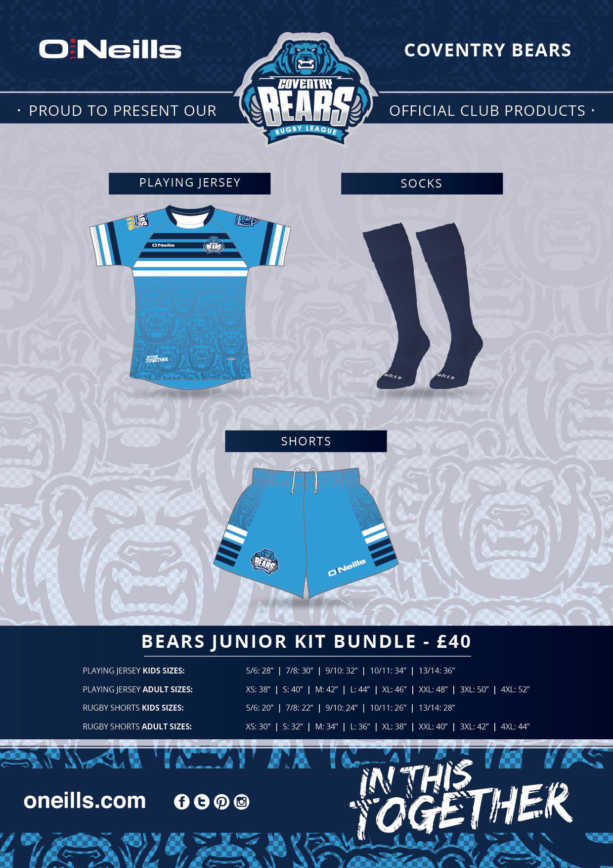 New Bears Junior Kit