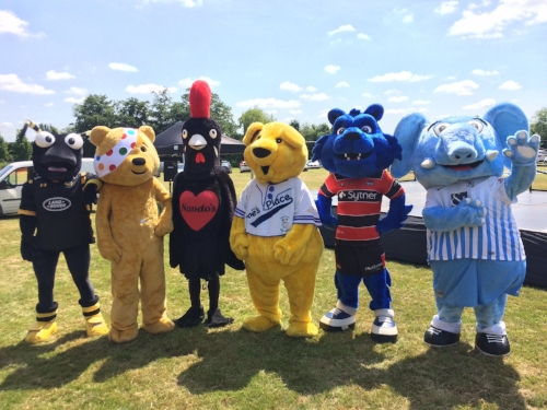 Taking part in Coventry Mascot's races...