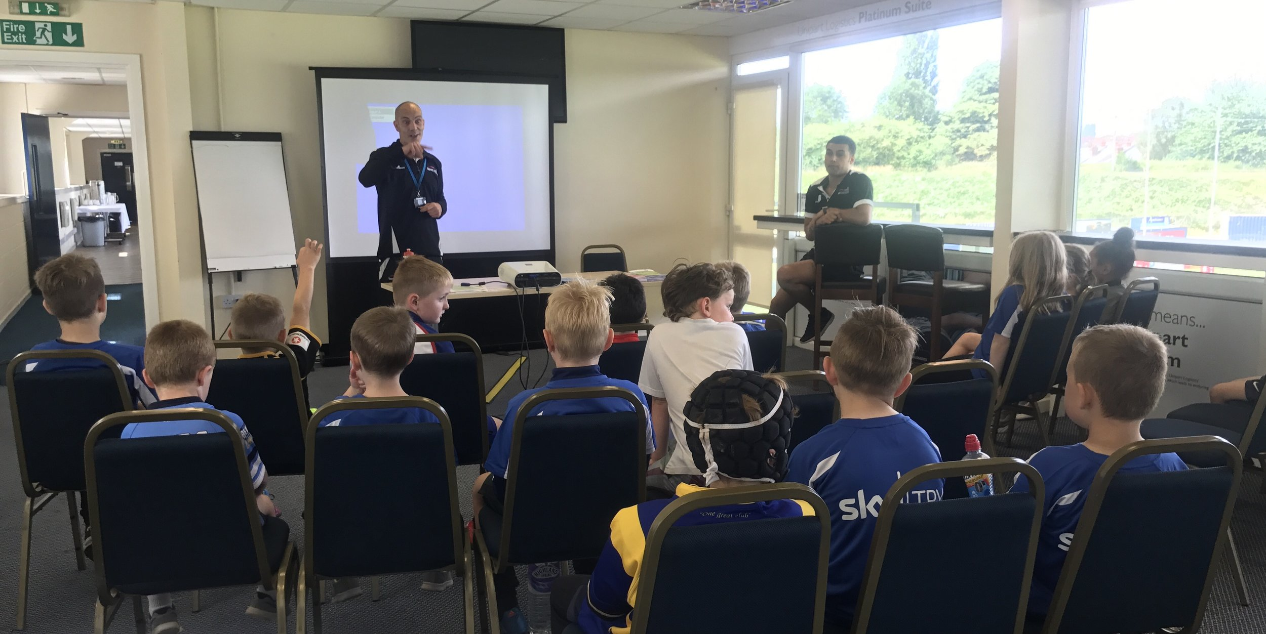 Coventry University Sport talking to children about healthy eating was just one of the activities