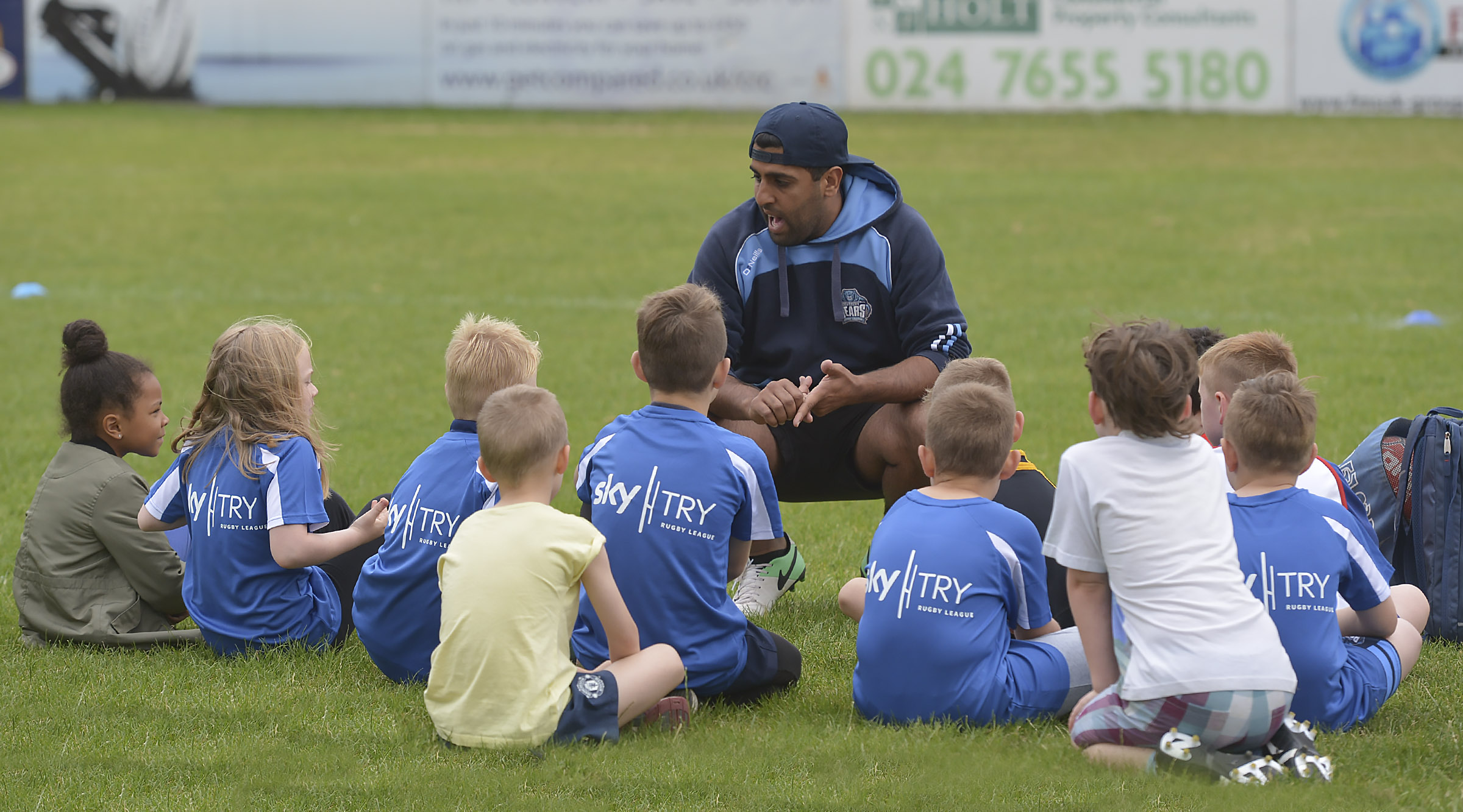 Coaching the cubs at the recent Development Day