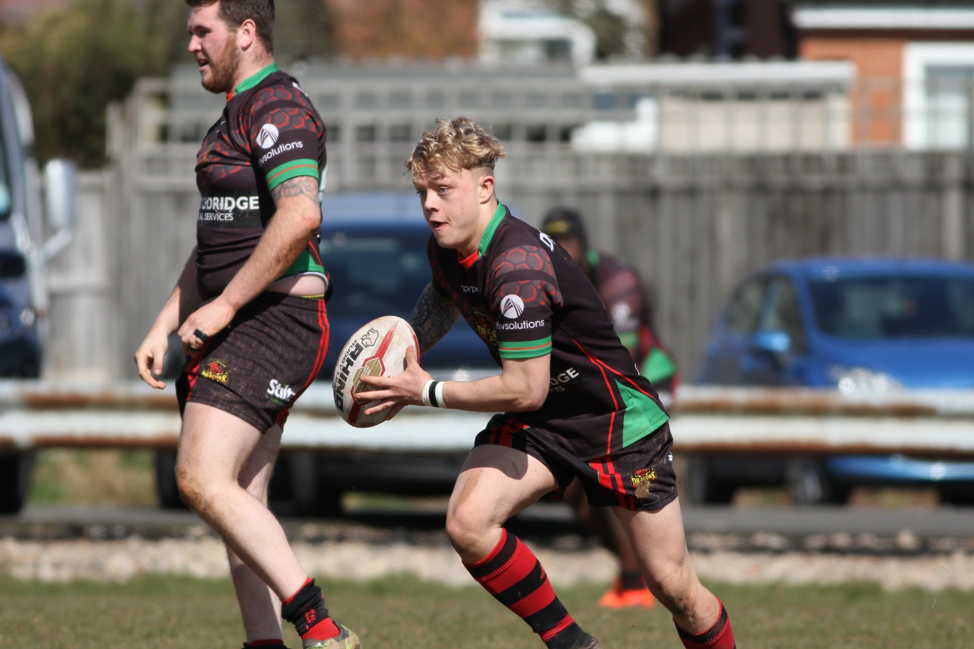 Young Bears half back Josh Jackson in action for the Dragons