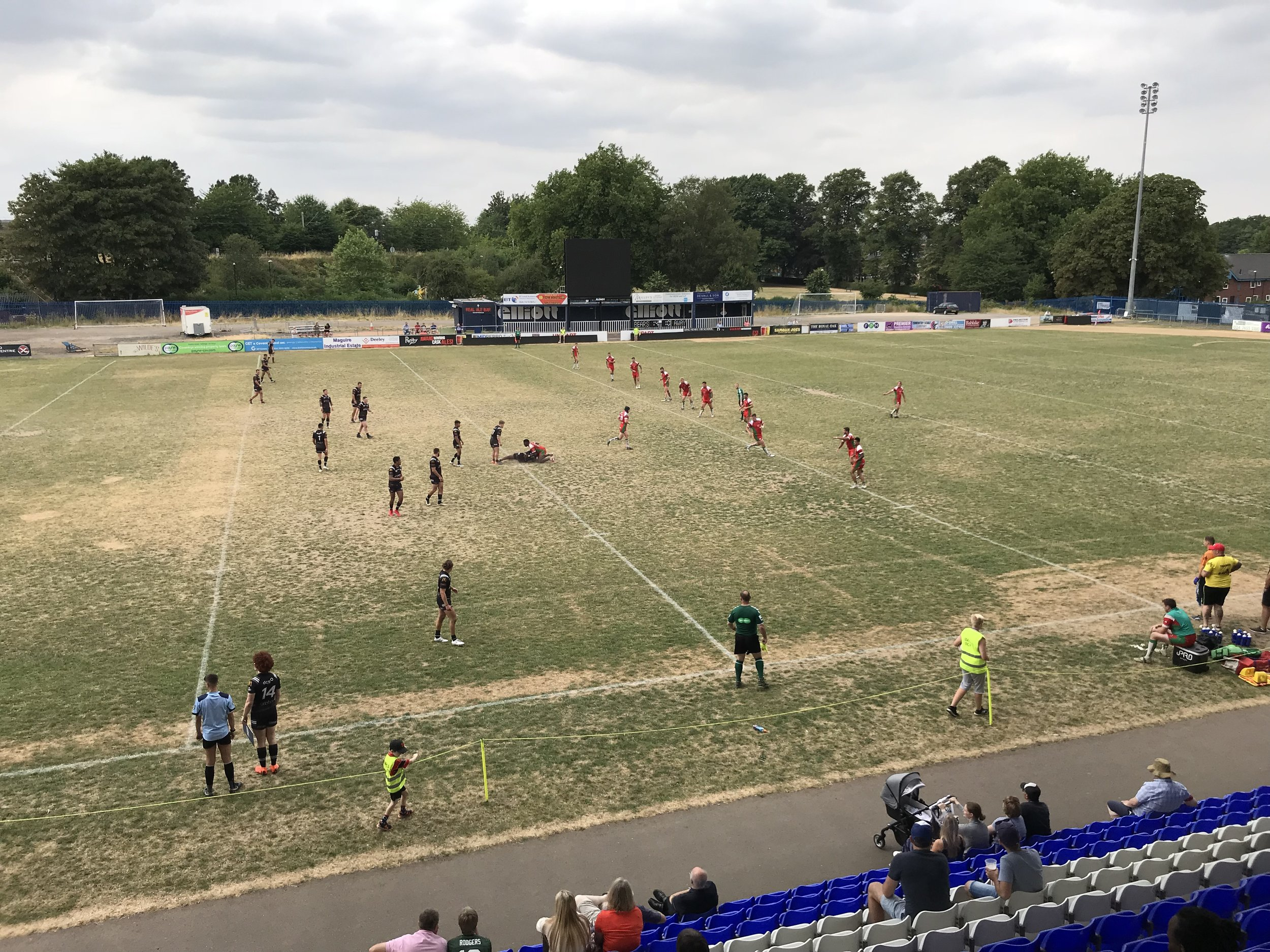 Butts Park Arena pitch in the searing heat!