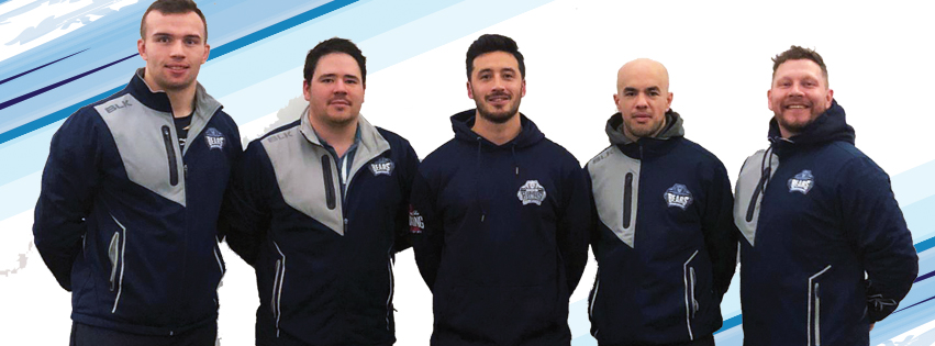 Matt McKelvey and Ben Whincup with Tom Tsang, Alex Brown and Mark Sloan.