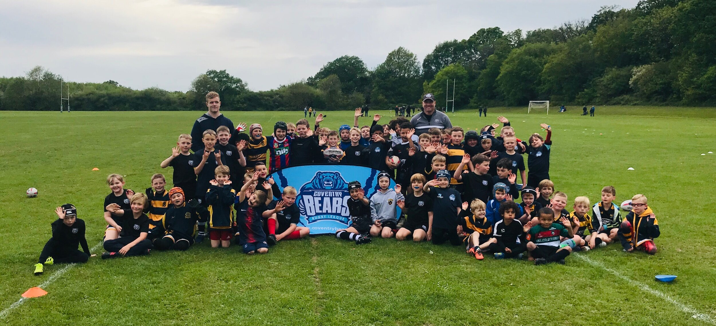 Coventry Bears Junior Training with coaches Peter Ryan and Troy Perkins