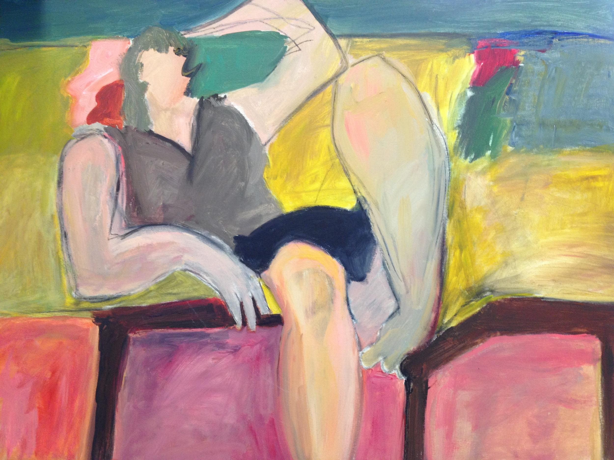 Reclining Lady<br/>60x45 acrylic on canvas