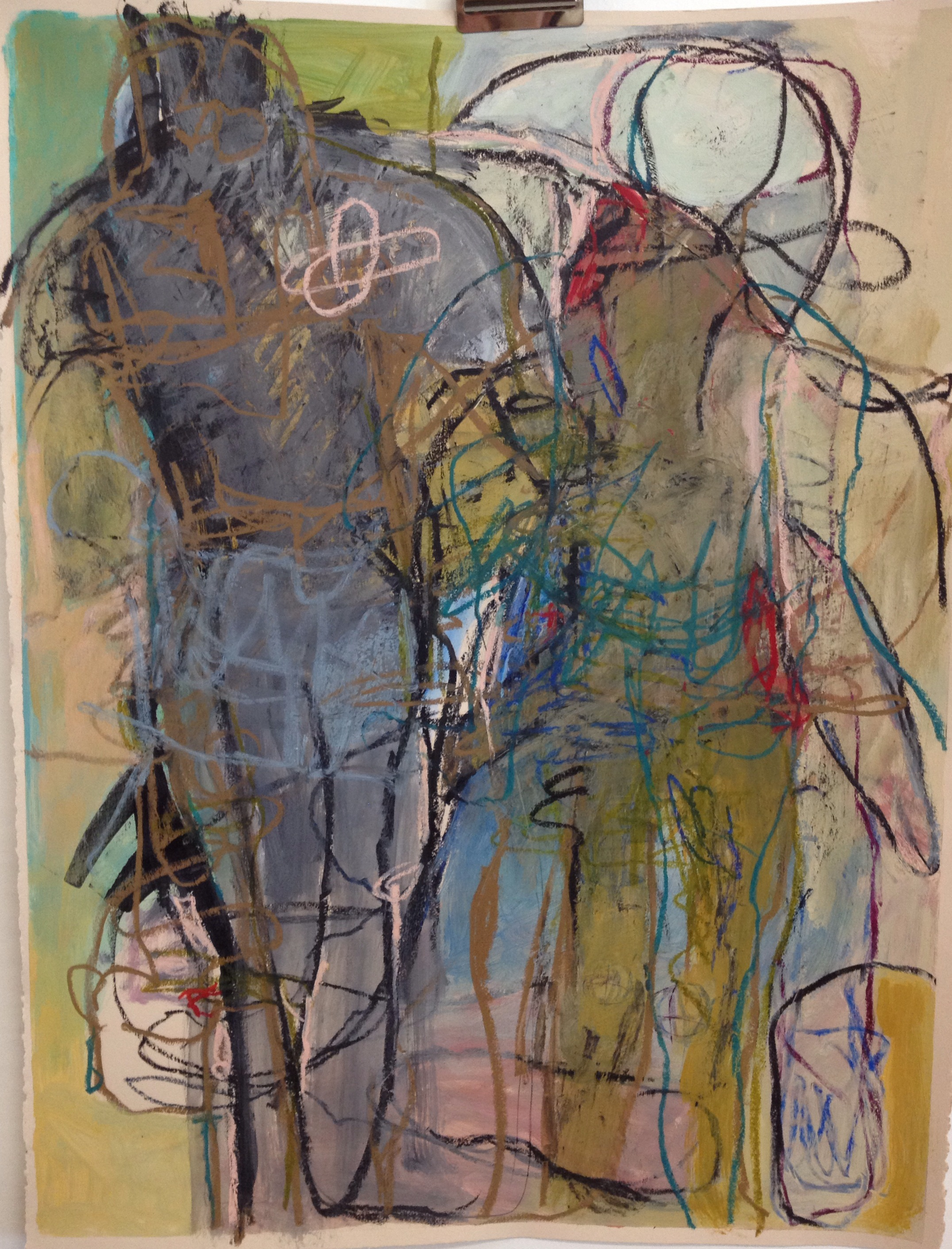 My Mirror Image<br/>30x44 mixed media on paper