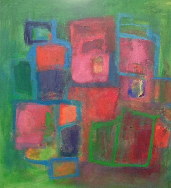 Boxed In<br/>24x30 Acrylic on canvas