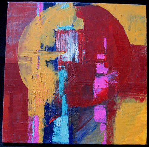Untitled<br/>14x14 acrylic on canvas