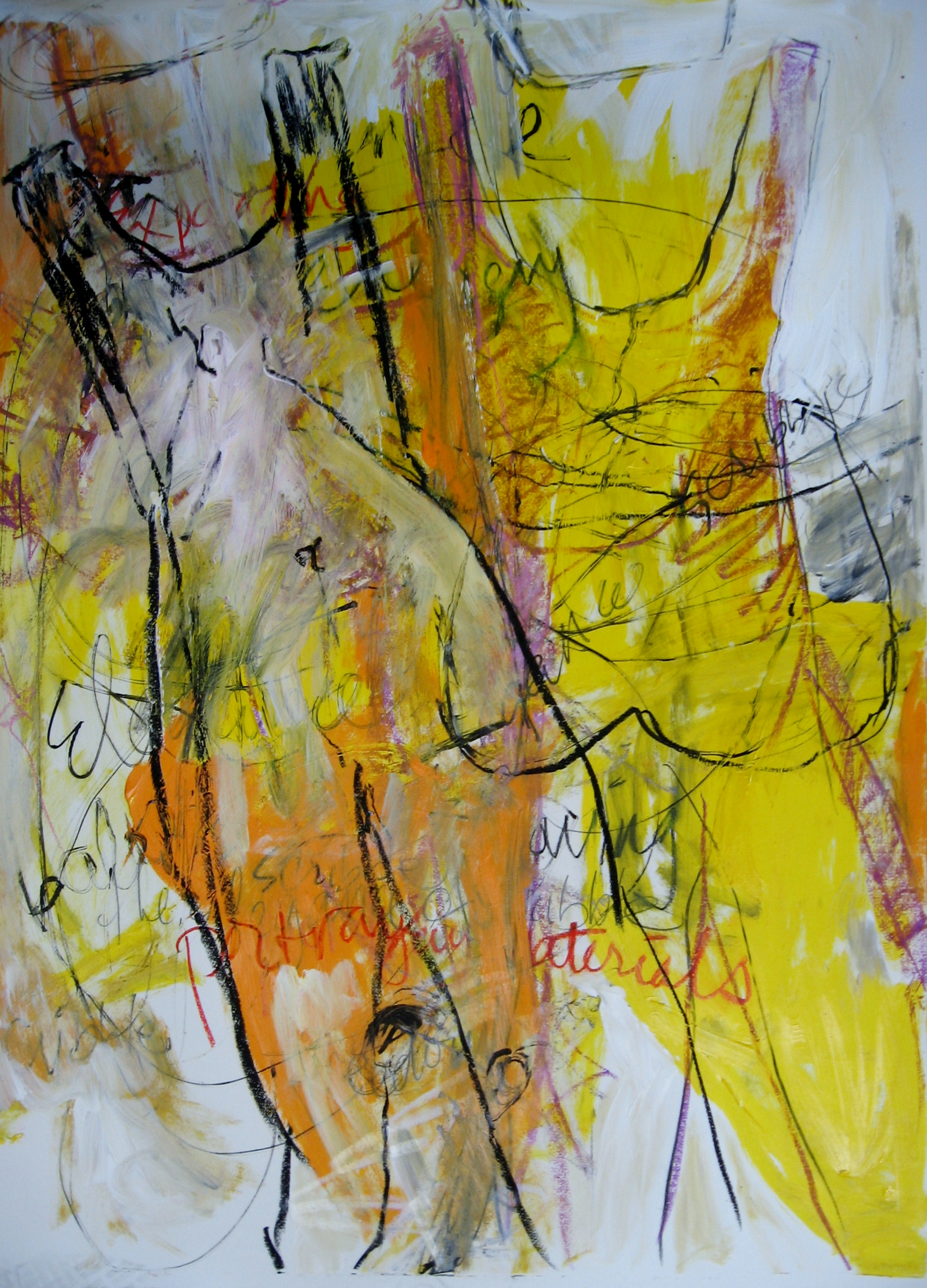 The Two of Us<br/>30x44 mixed media on paper