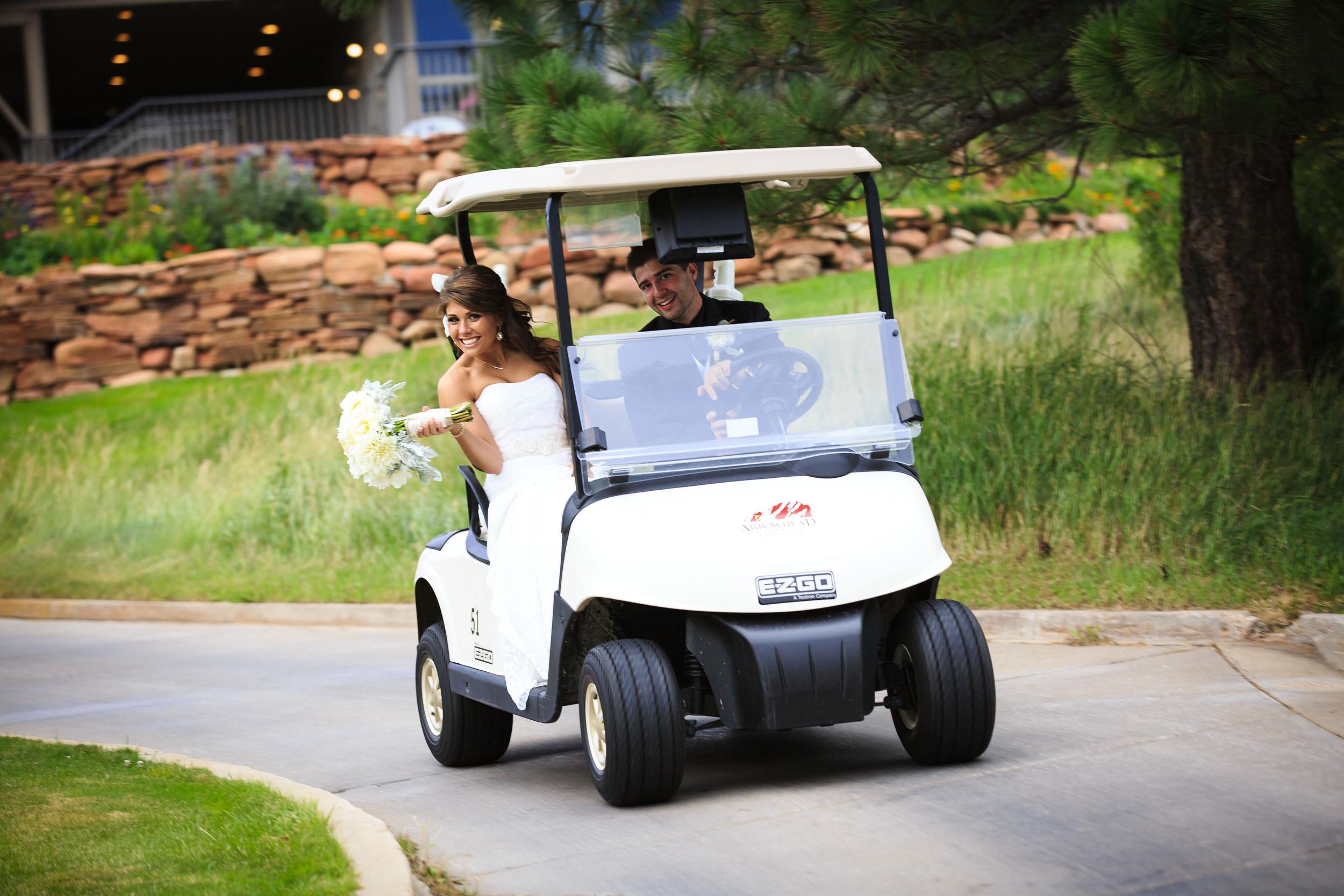 fun perks of a golf course wedding!