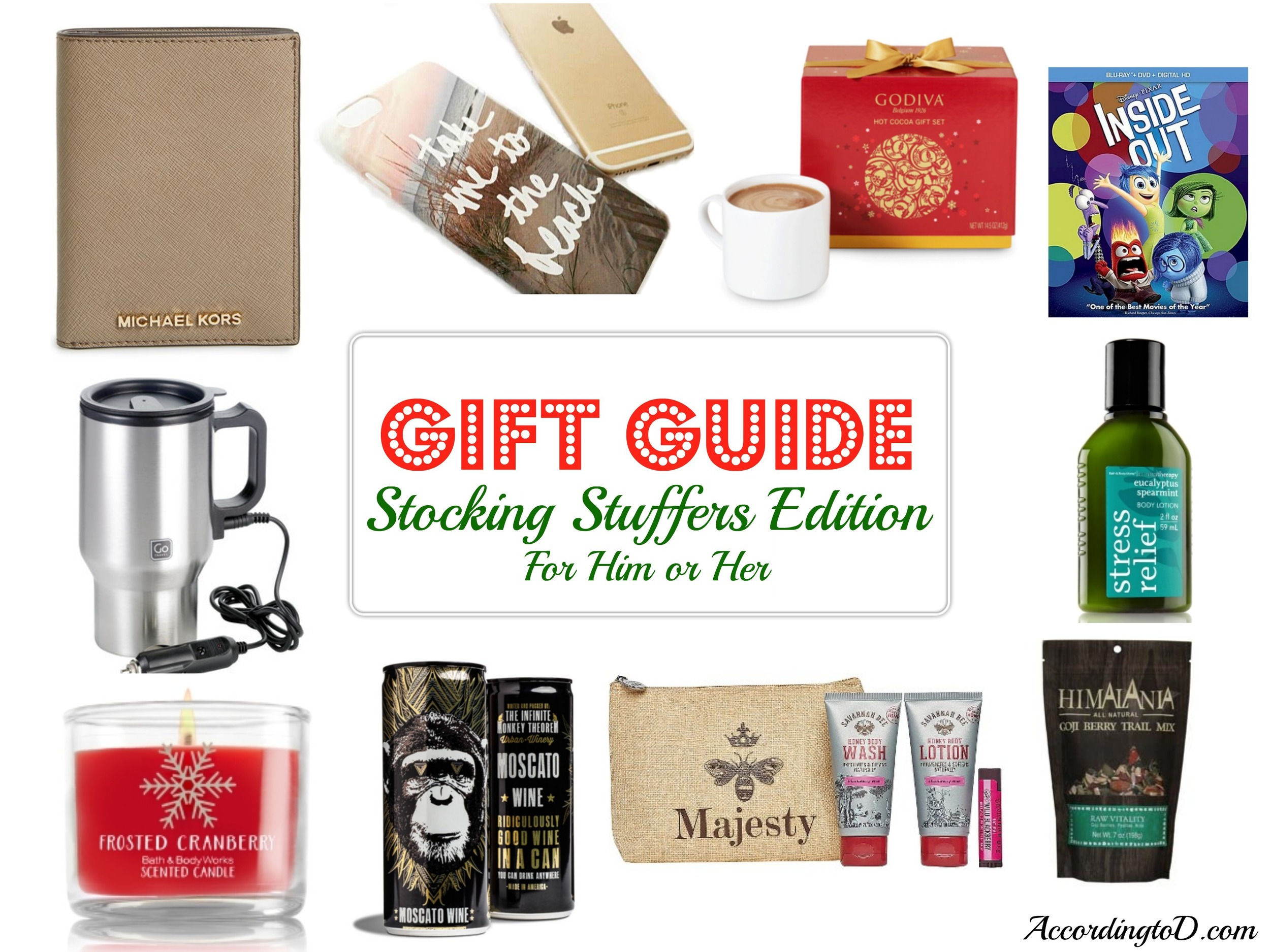 Stocking Stuffers Gift Guide Unisex Gifts For Him Or Her A Giveaway According To D