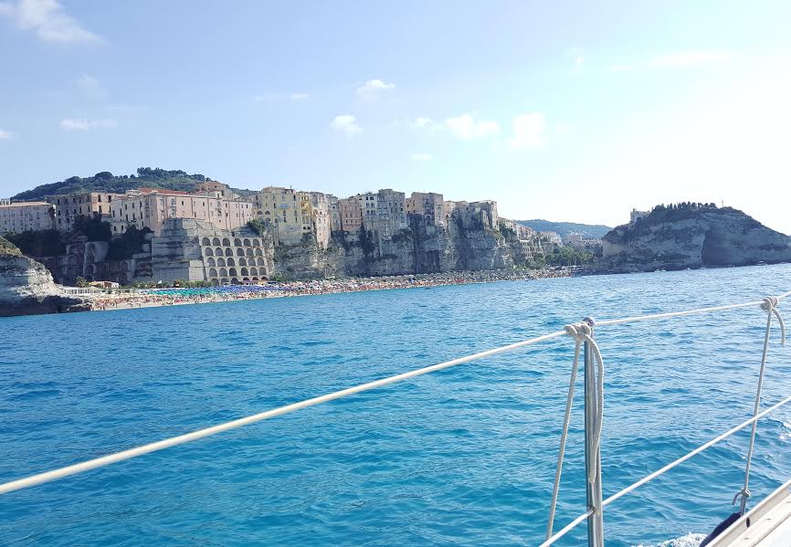 Boat view of Tropea Italy