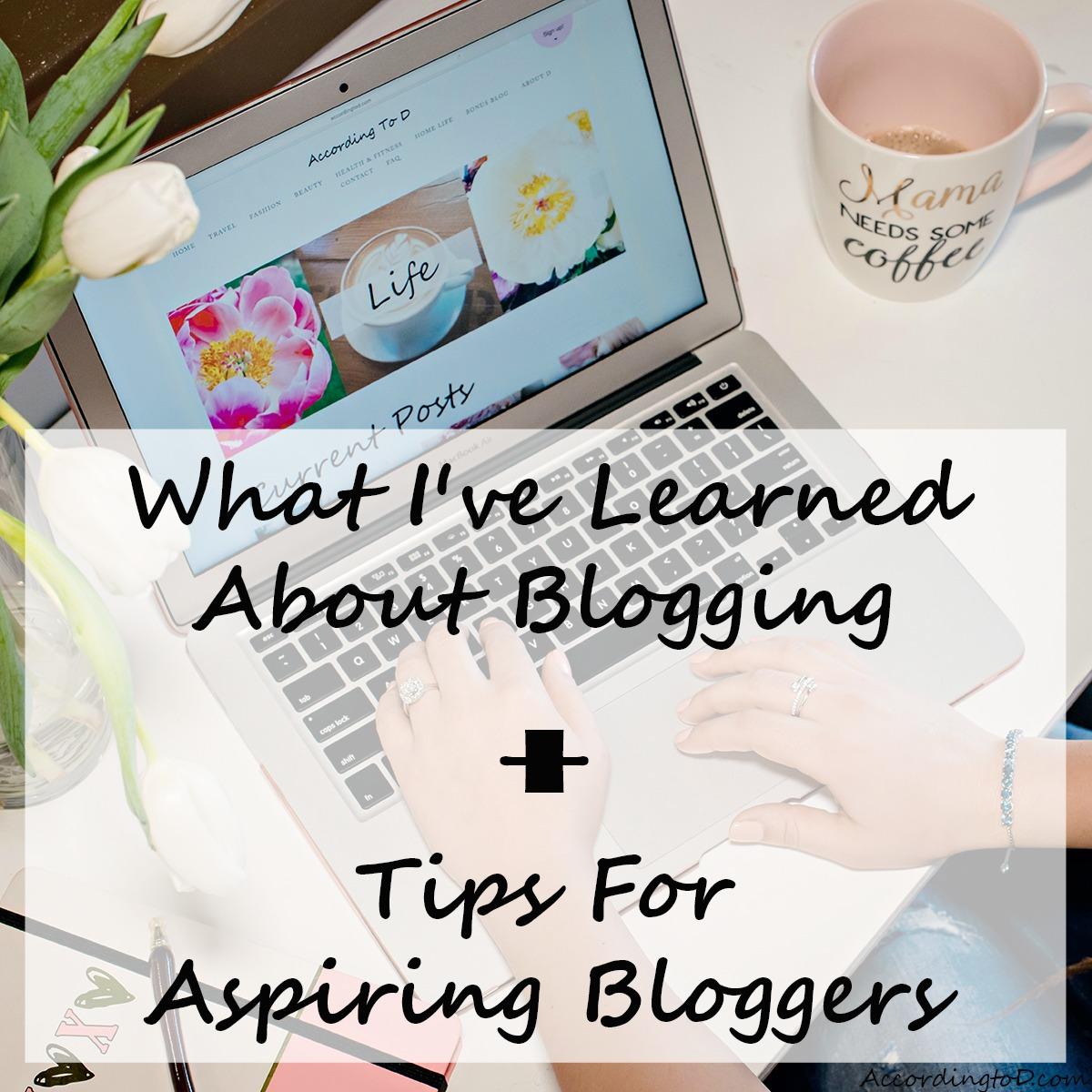 Tips for aspiring bloggers