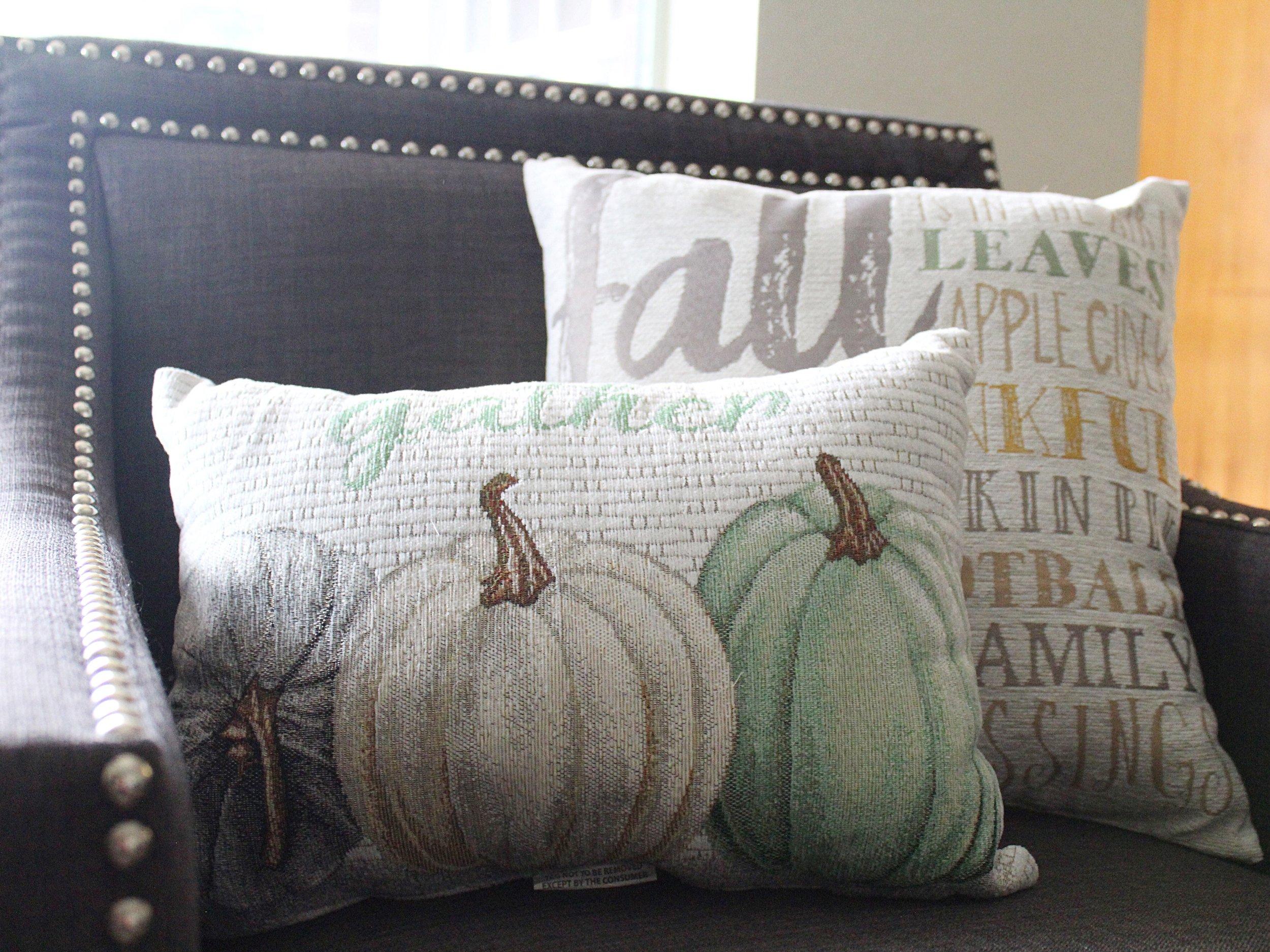 fall decor throw pillows