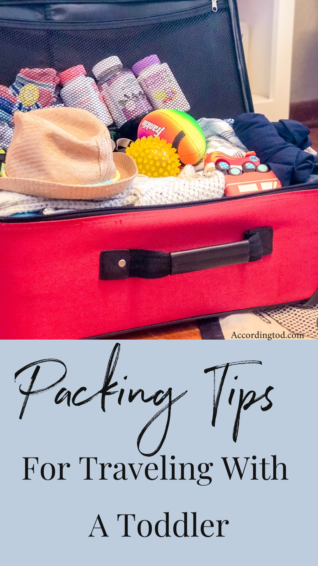 packing tips for traveling with a toddler