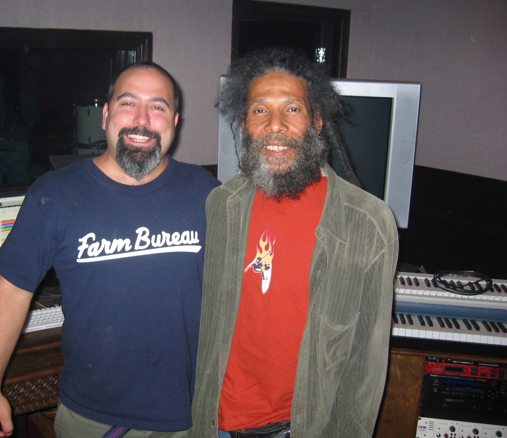 With Ronnie from Steel Pulse