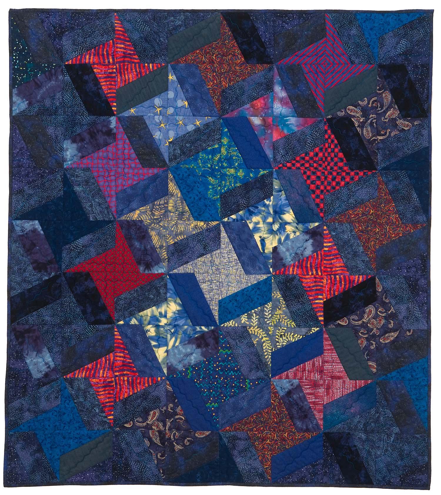 "Starry Night, 47"" wide x 52.5"" high, 2002"