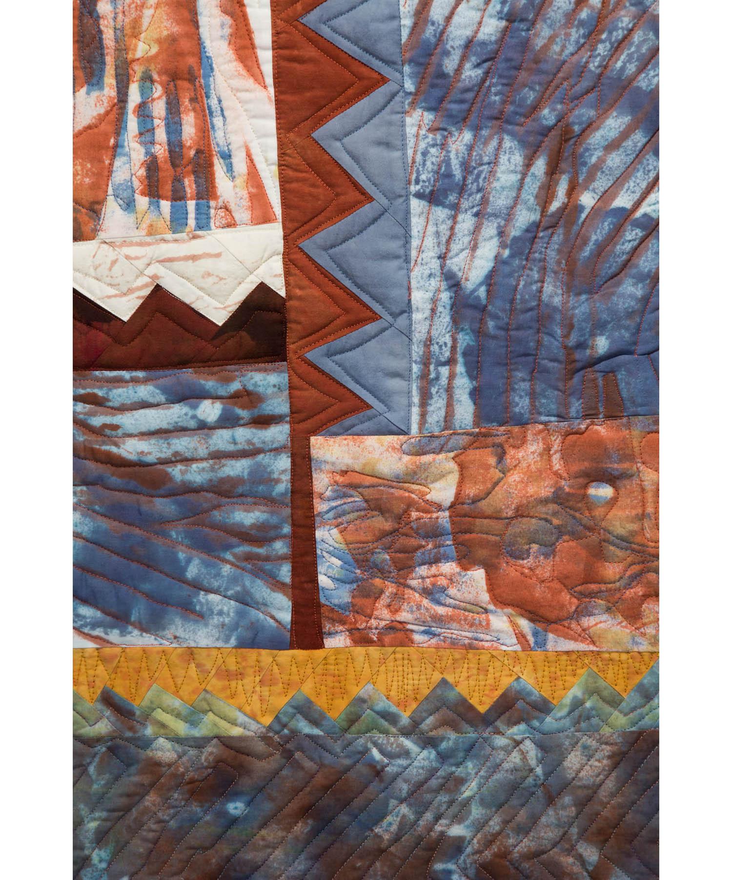 Sawblades 10- Blue Haze, detail
