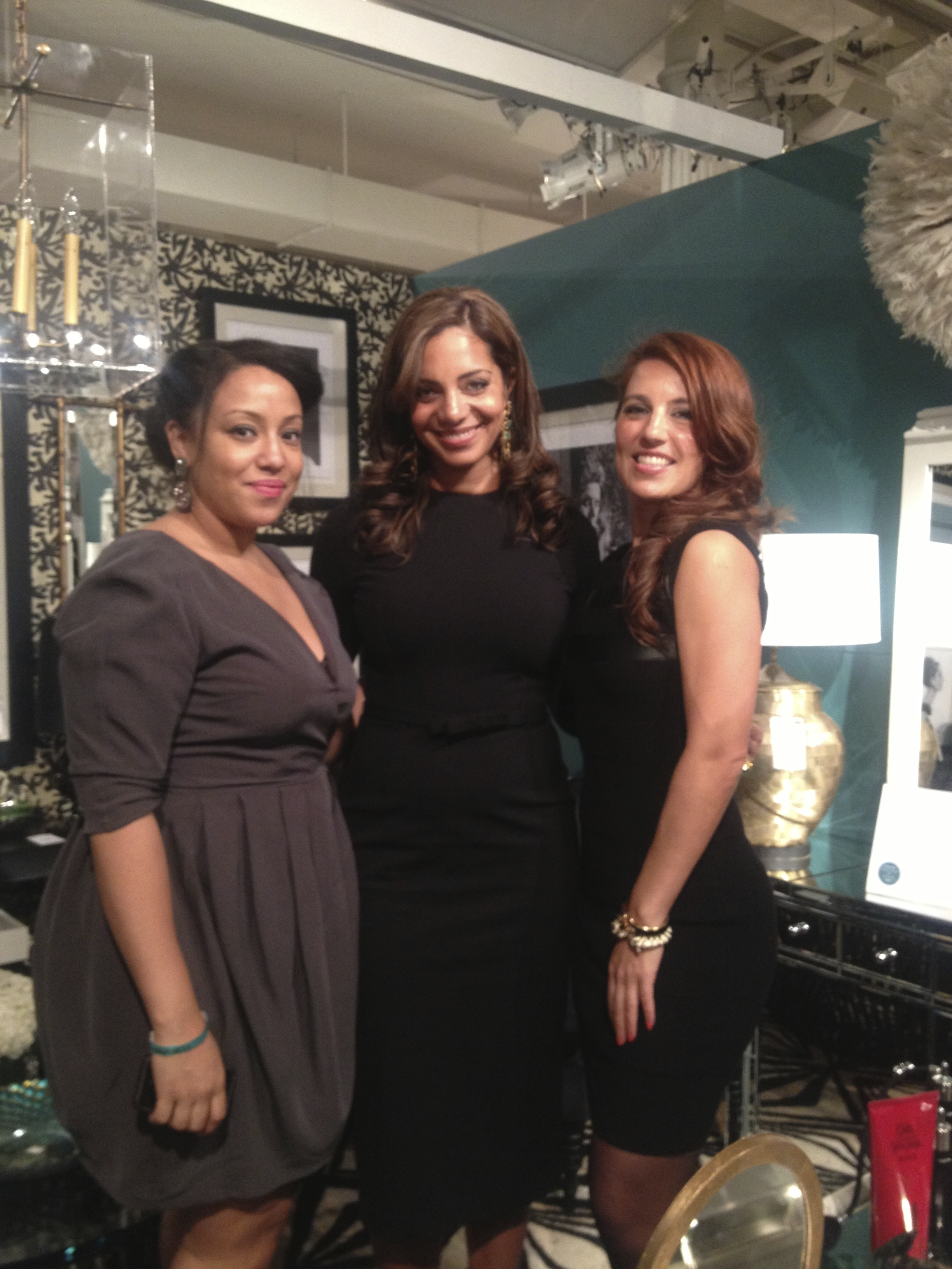 My dream team… Ari and Sarah. They made it all happen and still looked cute for the opening party.