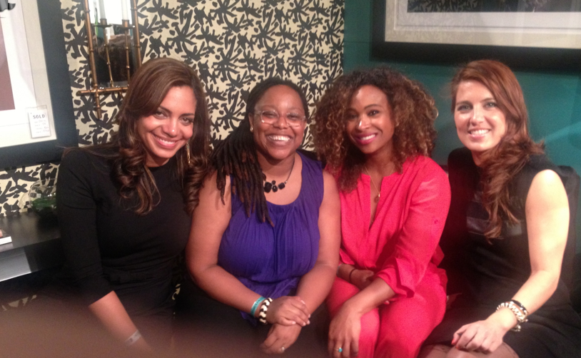Jeanine Hays of AphroChic, Tanika Ray, Sarah Taylor and me! My girls rallied insupport.