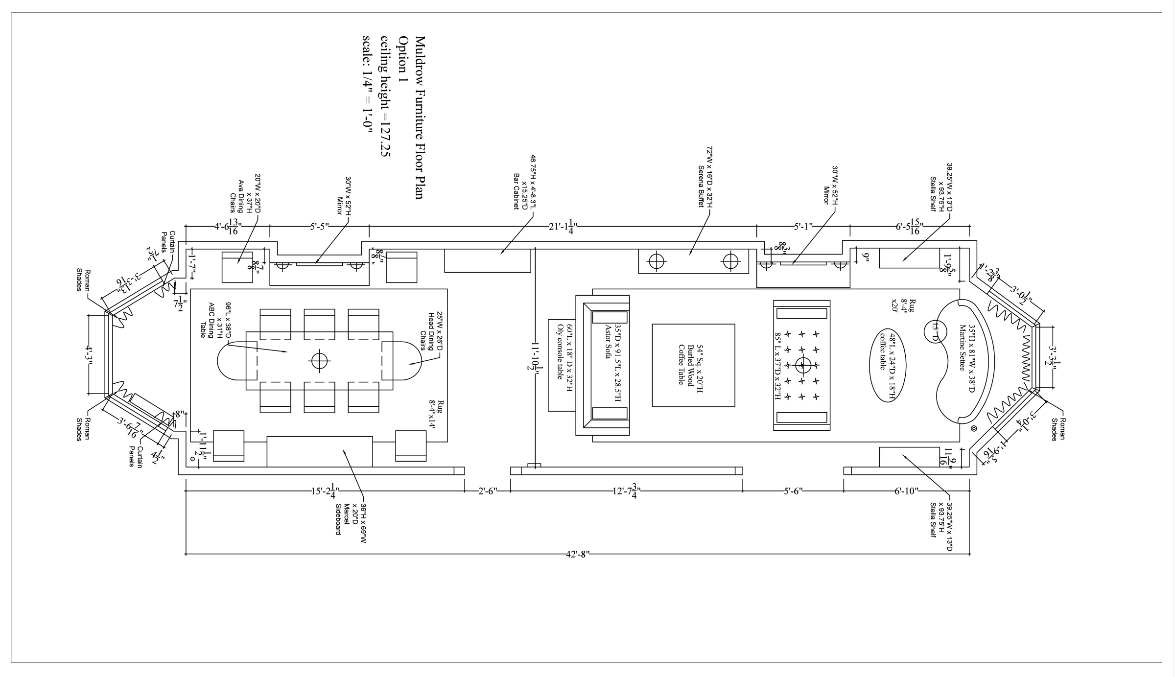 Furniture Floorplan with new furniture placement… done and done.