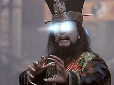 "I  literally  just Googled ""stereotypical Asian villain"" you guys. ( Big Trouble in Little China , 20th Century Fox)"