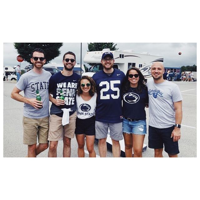 Bartley's first Penn State game was quite the experience! I was a little worried it was my fault the score was 31-31 for a while, but at least we pulled out a W, and got to enjoy some Yuengling, family tailgating, and see some great friends! #weare #pennstate #yuengling #firstpennstategame #tailgate #birthdayweekend #happyvalley #31