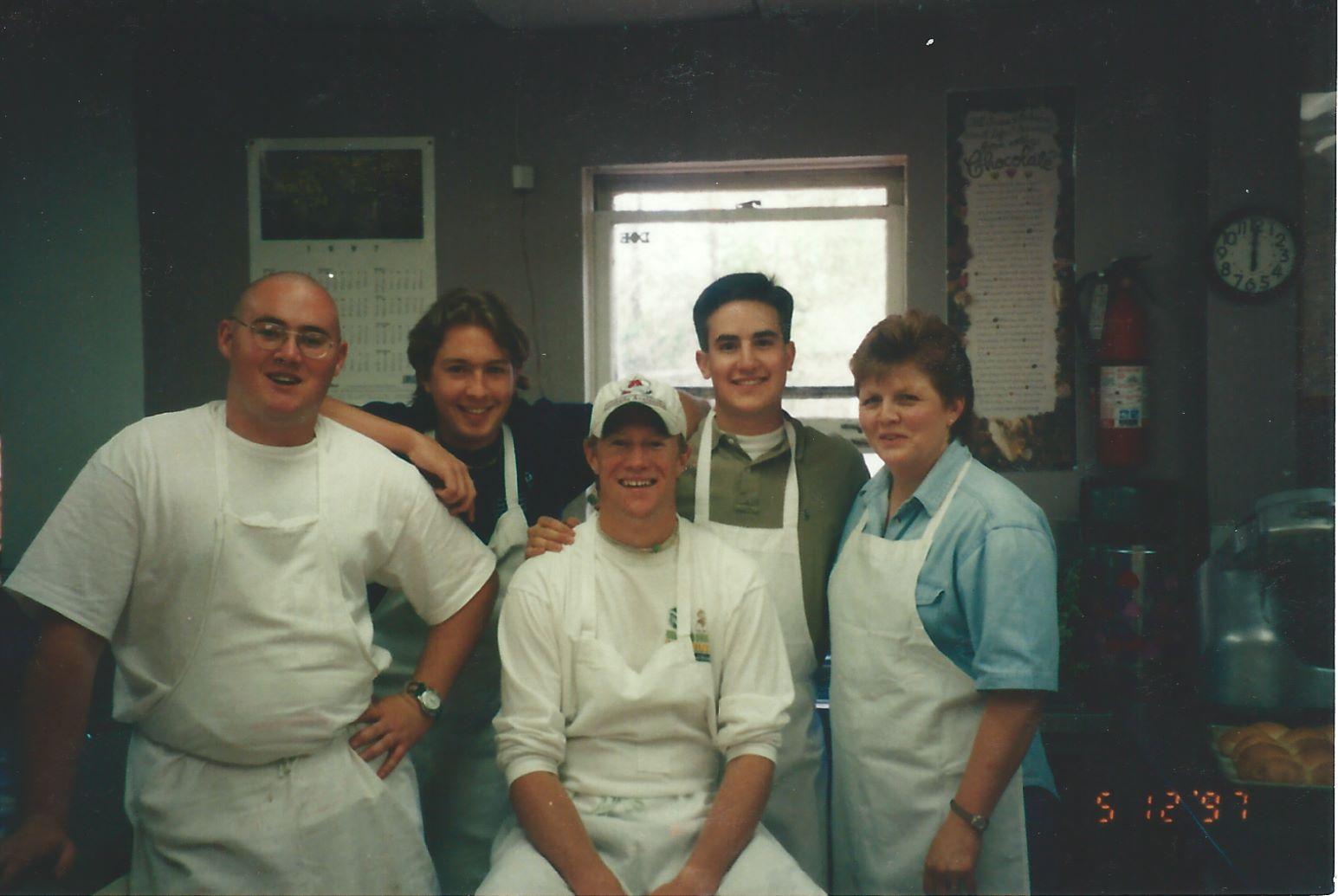 1997 - Rita's first SigEp Kitchen Crew